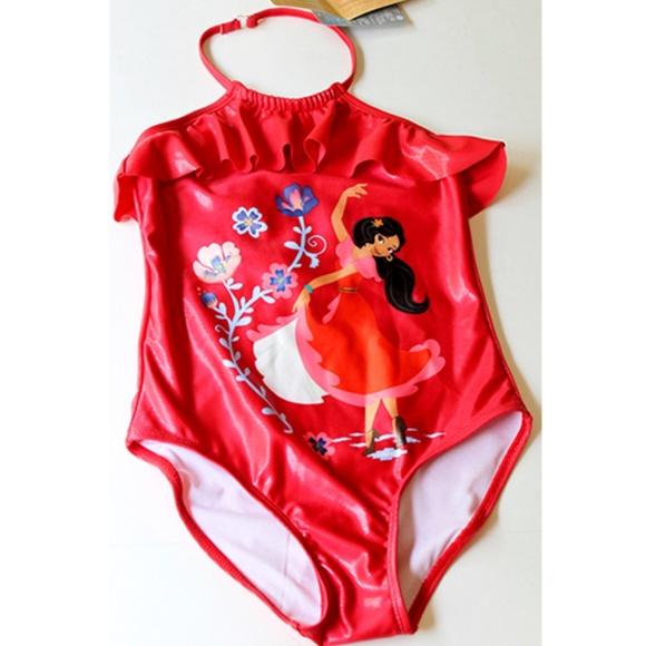 b471856add997 Elena of Avalor 1pc Swimsuit Girls 9 10